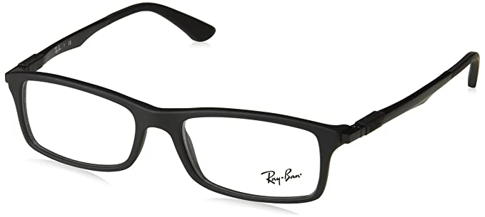 5251e4b784bb9 Rayban Rectangular Black Coloured Full Frame (RX7017-5196-54 ...