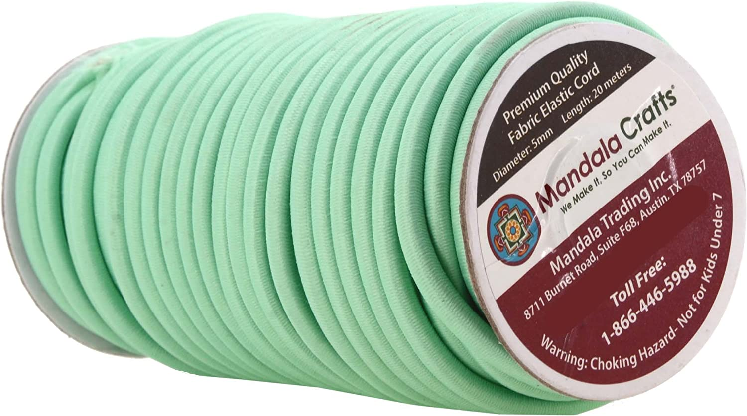 Backpacks Elastic Bungee Rope Shock Cord for Kayaks Turquoise Bungee Cord by the Foot Tent Poles; 3//16 Inch 5MM 65 FT Roll by Mandala Crafts