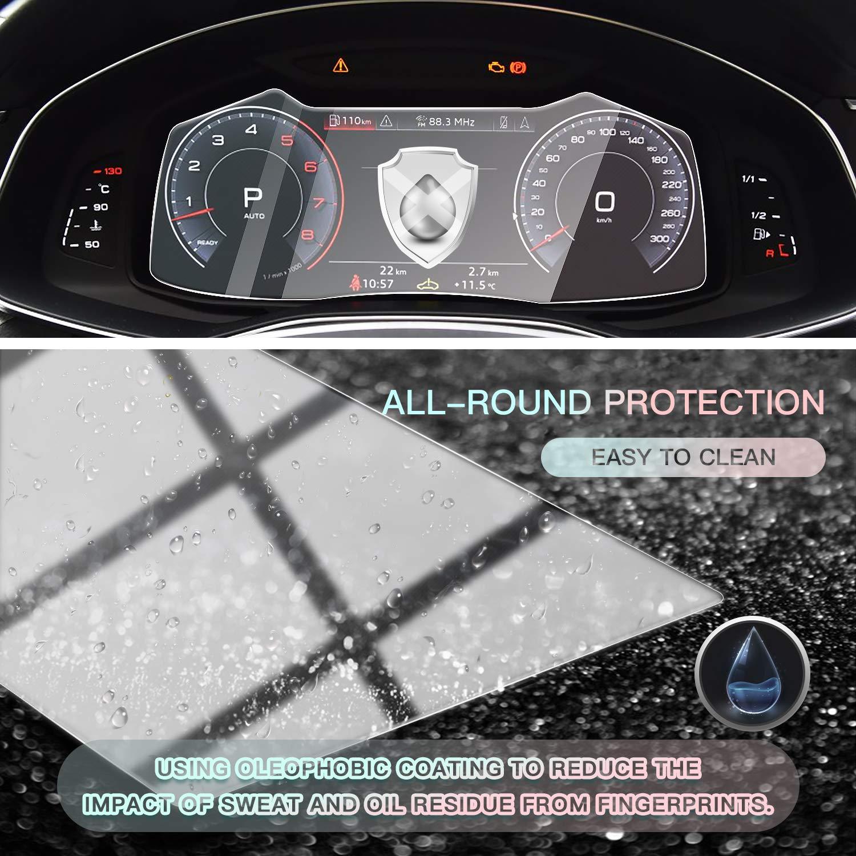 HD Auto 9H GPS Navi pel/ícula protegida Glass CDEFG para Audi A6 A7 C8 2018 2019 Protector de Pantalla de Vidrio Templado Navigation