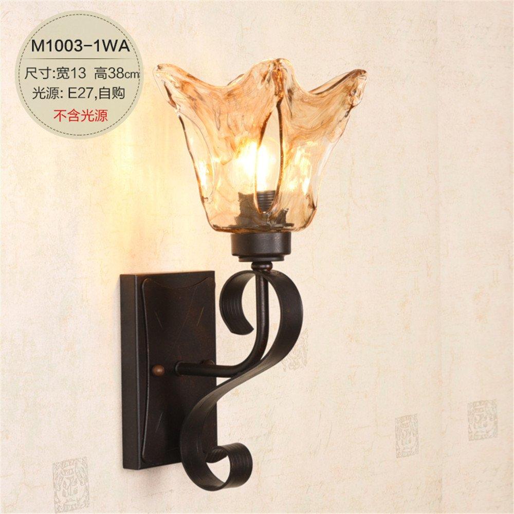JJZHG Wandleuchte Wandlampe Wasserdicht Wandbeleuchtung Retro- Spiegelscheinwerfer der Wandlampe Wohnzimmerhintergrund-Wandlampenschlafzimmer-Nachttischlampe beinhaltet  Wandlampe