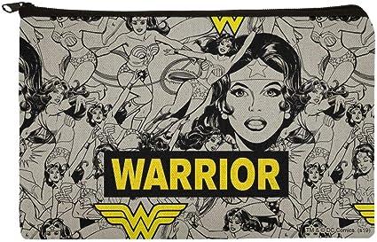 Wonder Woman Warrior - Estuche organizador con cremallera, diseño de lápiz: Amazon.es: Oficina y papelería