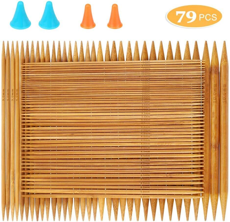 Customer's choice: Relian Double-Pointed Knitting Needles, 75 Bamboo Sticks
