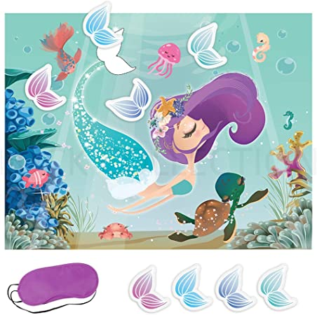 Mermaid Crayons seahorse mermaid tails set of 25 party favors
