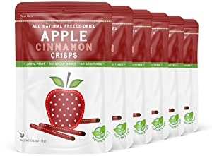 Nature's Turn Freeze-Dried Fruit Snacks - Apple Cinnamon Crisps Perfect For School Lunches or an On-The-Go Snack - No Sugar Added, Non GMO, Gluten Free, Nothing Artificial (0.53oz) 6-Pack