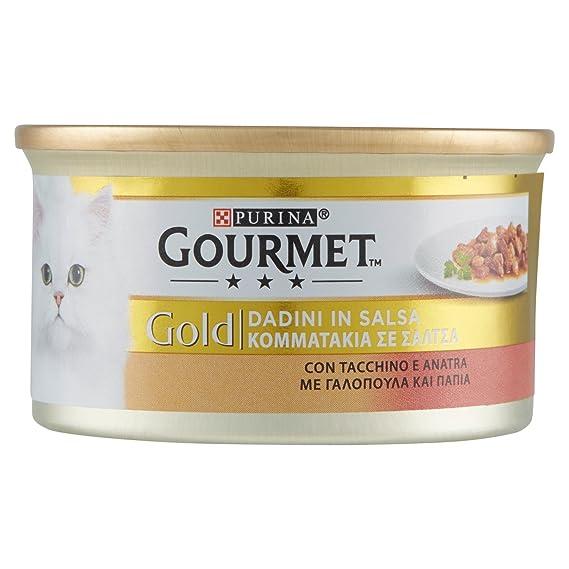 Friskies Cat Gourmet Gold, Dados de Salsa con Pavo y Pato, ...