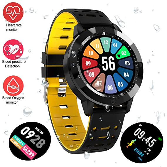 Fitness Tracker Watch Upgraded Swim Water Resistant Hd Color Screen Smart Bracelet Hr Blood Oxygen Pressure Calorie Sleep Monitor Pedometer Activity