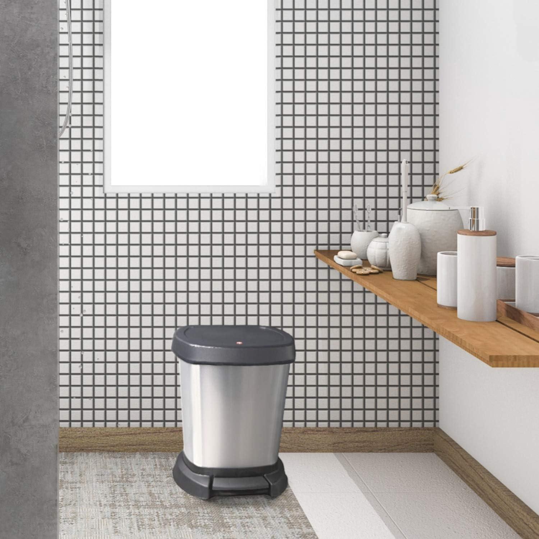 color blanco Rotho 1165080746 Paso Cubo de basura 6 L