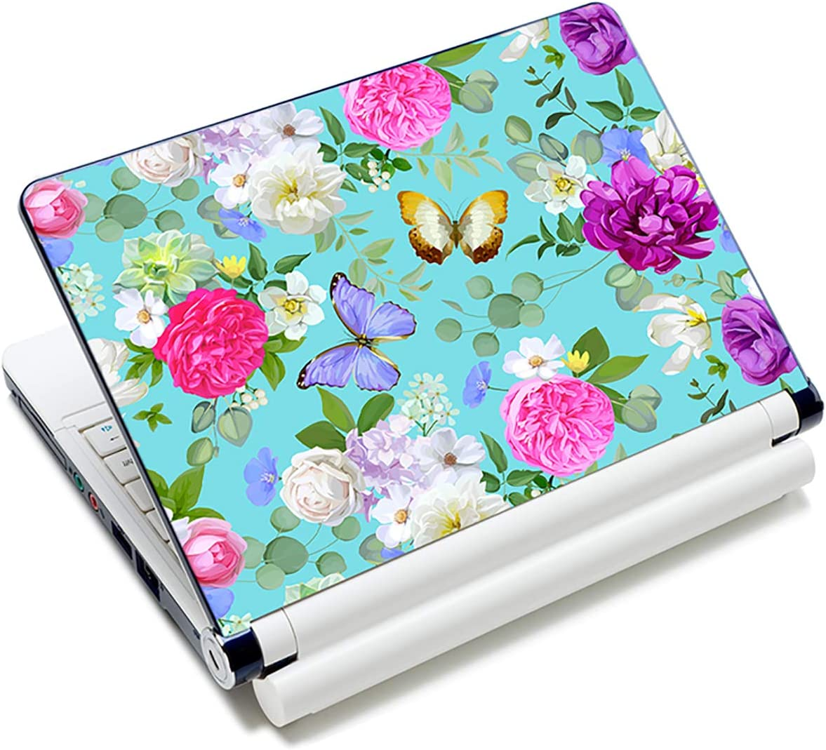 Laptop Stickers Decal,12 13 14 15 15.6 inches Netbook Laptop Skin Sticker Reusable Protector Cover Case for Toshiba Hp Samsung Dell Apple Acer Leonovo Sony Asus Laptop Notebook (Colorful Flowers)