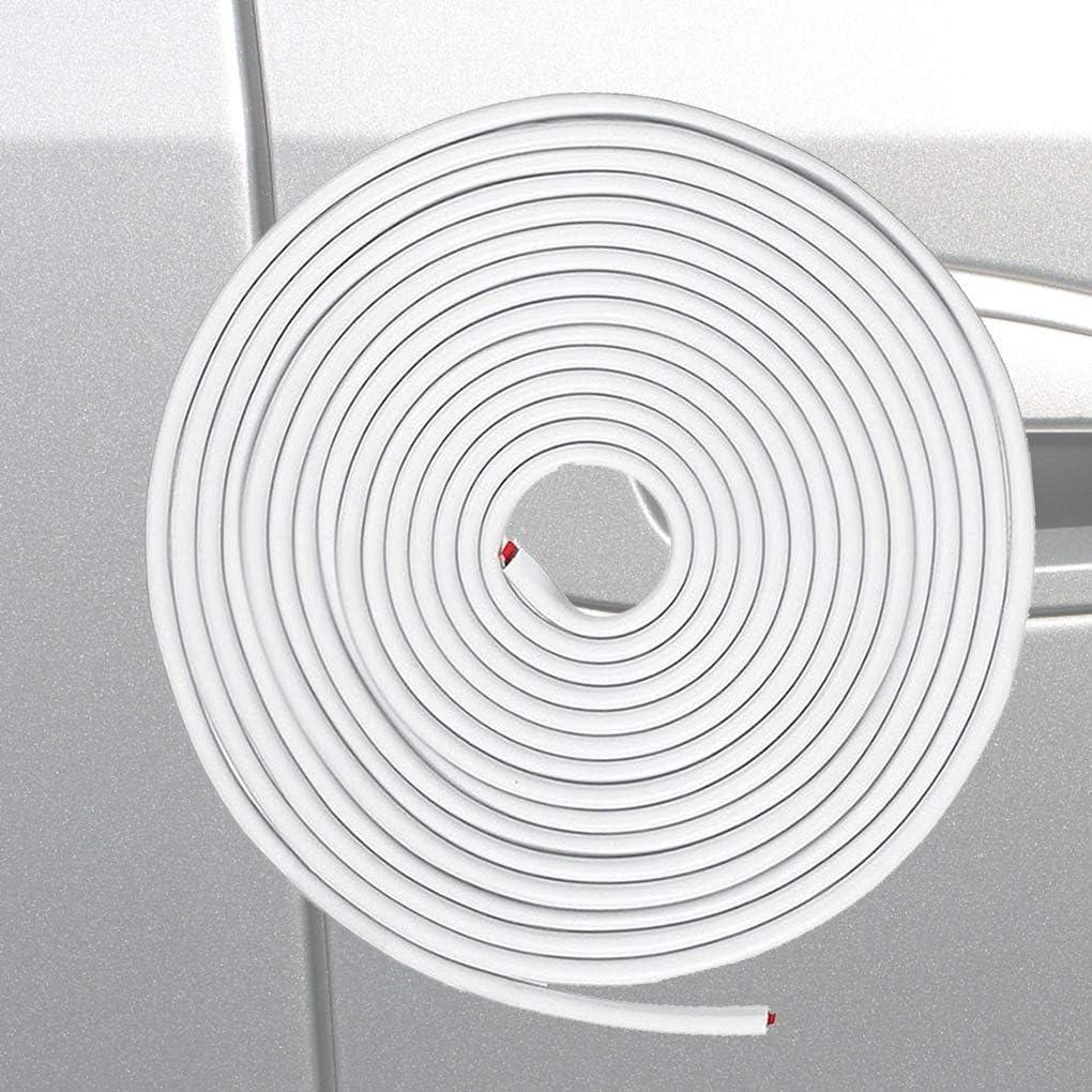 Diamoen Porte Voiture U Garde en Forme de Joint Souple de Protection Porte Garde Porte Automobile Porte Flexible Anti-Collision Barres de Protection Rouge