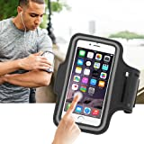 Aeoss Sports Running Jogging Gym Armband Case Cover Holder Compatible for All Smart Phones Till 5 inch iPhone 6 Samsung Redmi Motorola