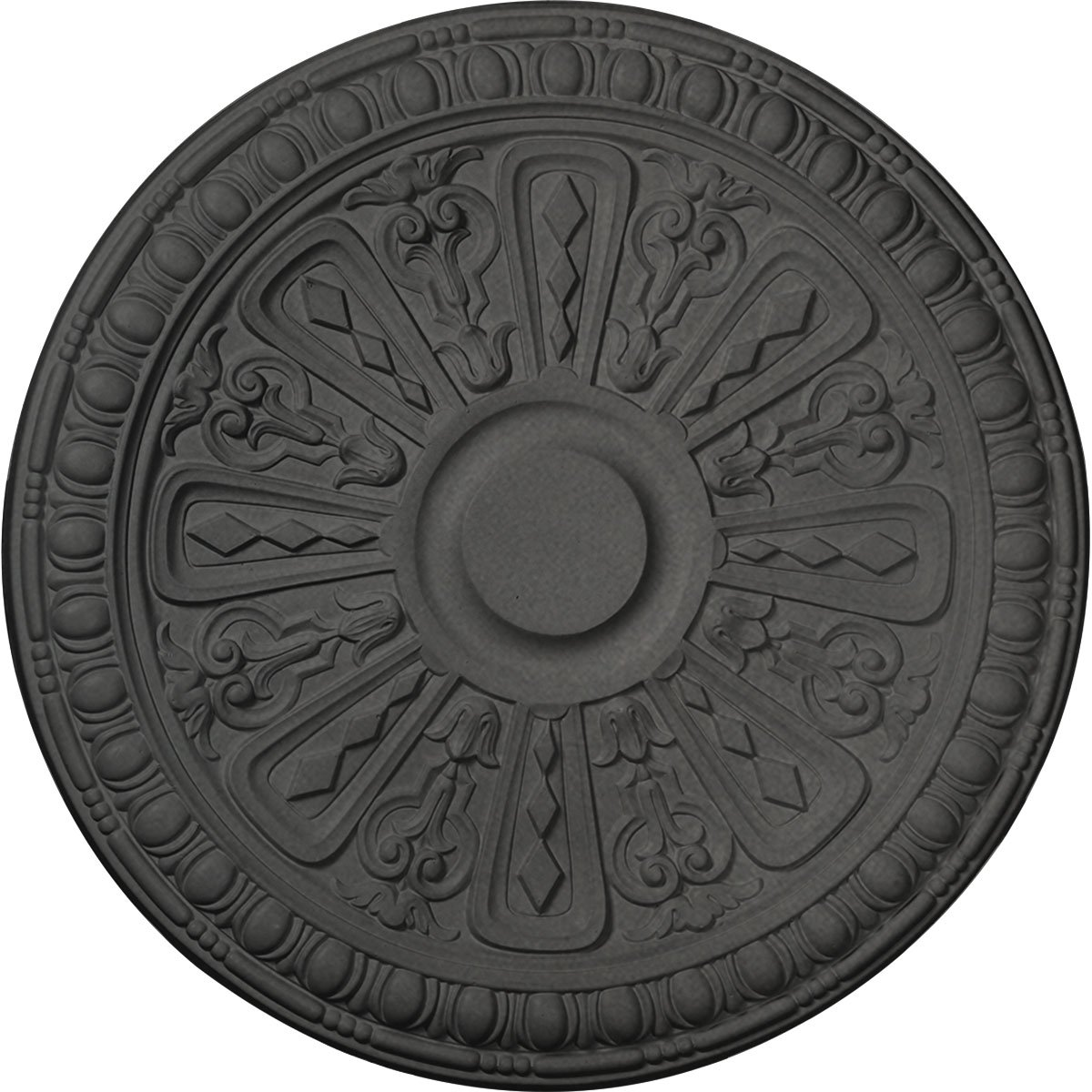 Ekena Millwork CM18RA2SGS Raymond Ceiling Medallion, Steel Gray