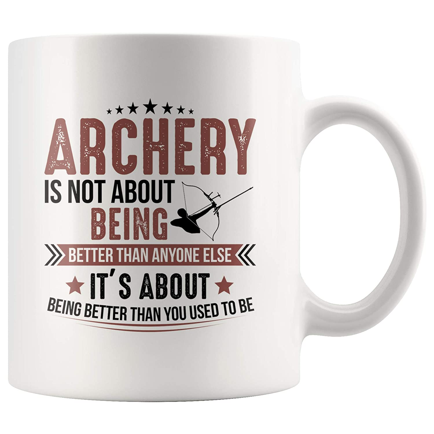 Amazon.com: Funny Hunting Quote Archery is About Being ...