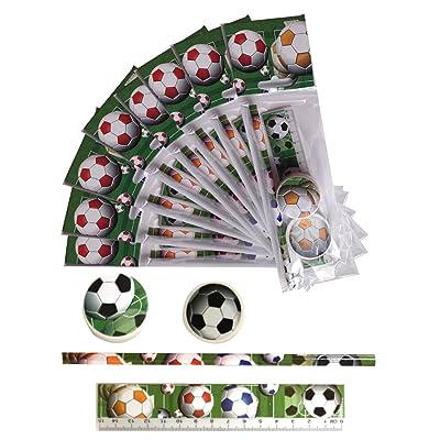 12 Football Cadeau Pour Enfants. Ensemble de Papeterie - 4 Pièces.Ideal Pochette Suprise