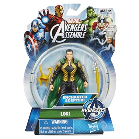 736efaa87f4f98 Image Unavailable. Image not available for. Color  Marvel Avengers Assemble  Loki Action Figure 3.75 Inches