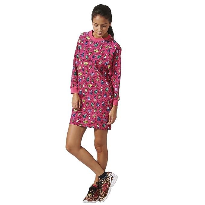 título Criticar Imperio  adidas Originals Women's Jeremy Scott Oversize Jumper Dress - Pink ...