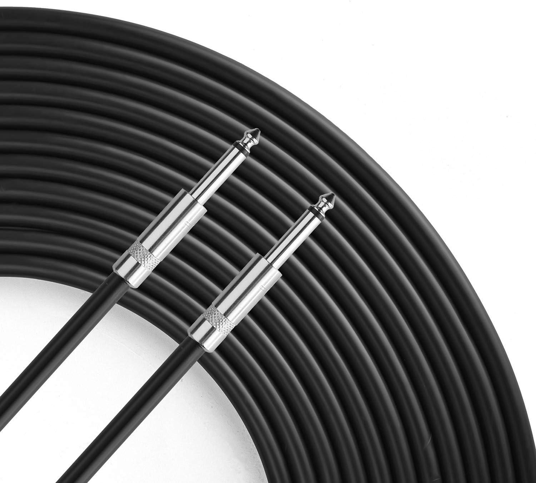Single Heavy Duty 100ft 12 Gauge Speaker Wire Cord for Audio Amplifier Yoico Pro 100 Feet 12AWG 1//4 to 1//4 Speaker Cable