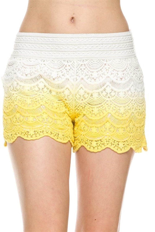 2LUV Women's Dressy Chic Crochet Lace Shorts