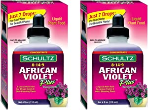Schultz African Violet Plus Plant Food 8-14-9, 4 fl oz. [2-Pack]
