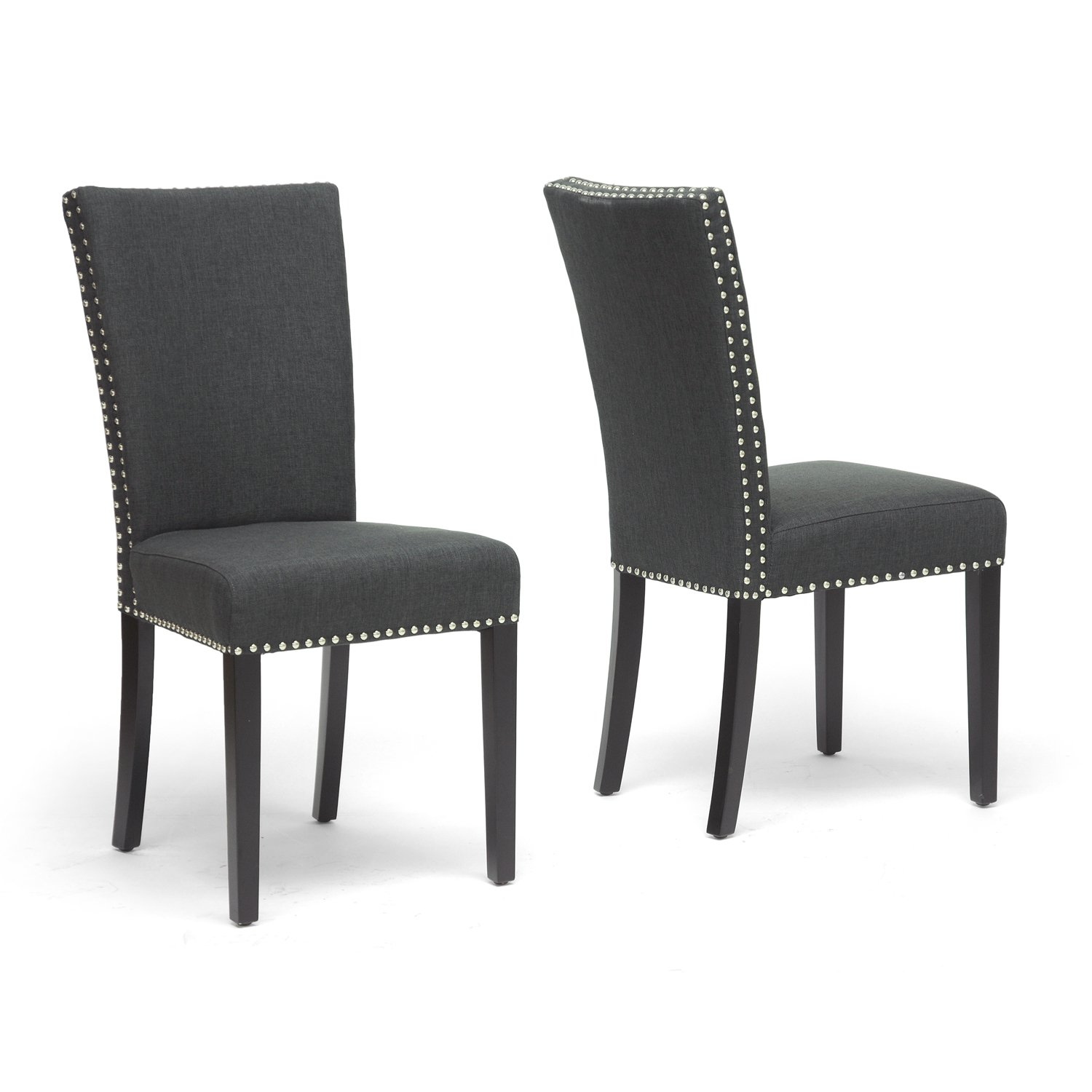 Amazon.com - Baxton Studio Harrowgate Linen Modern Dining Chair ...