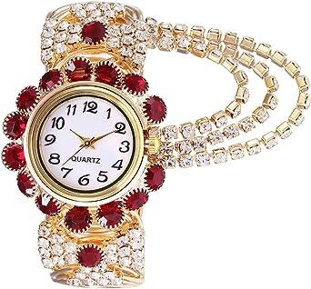 Amazon.com: Relojes de pulsera elegantes para mujer, de ...