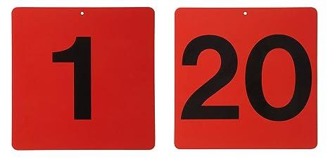 Cartel en rojo, sin letras/Número: Amazon.es: Productos para ...
