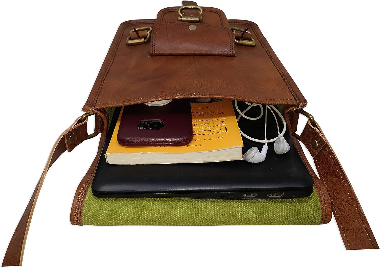 boyfriend gift laptop phone passport case Brown men messenger bag travel portfolio small handbag leather crossbody shoulder tablet purse