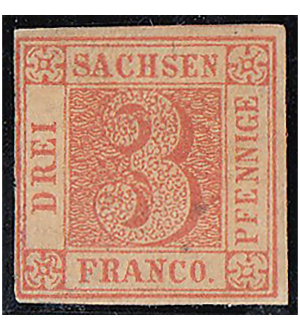 Goldhahn Sachsen Nr. 1 ungestempelt geprüft und signiert Briefmarken für Sammler