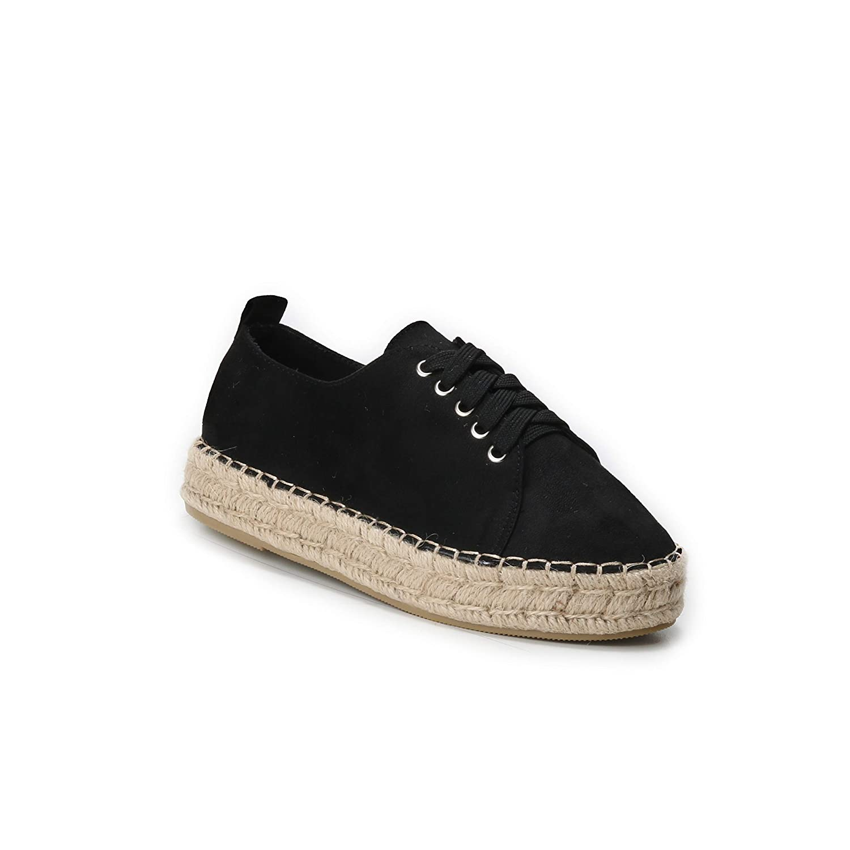 HERIXO Damen Schuhe Mokassins Loafers Espadrilles Bast-Rand Sneakers Ballerina Slippers Wildlederimitat leichte Sommerschuhe Leoparden-Muster