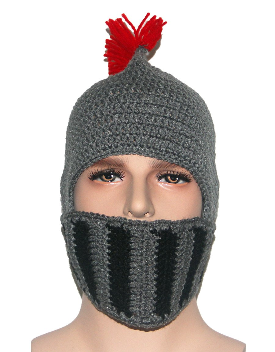 0c0663cc824 Novelty Kafeimali Original Barbarian Knight Knit Beard Hat Beanie Halloween  Knit Caps HZMZ3