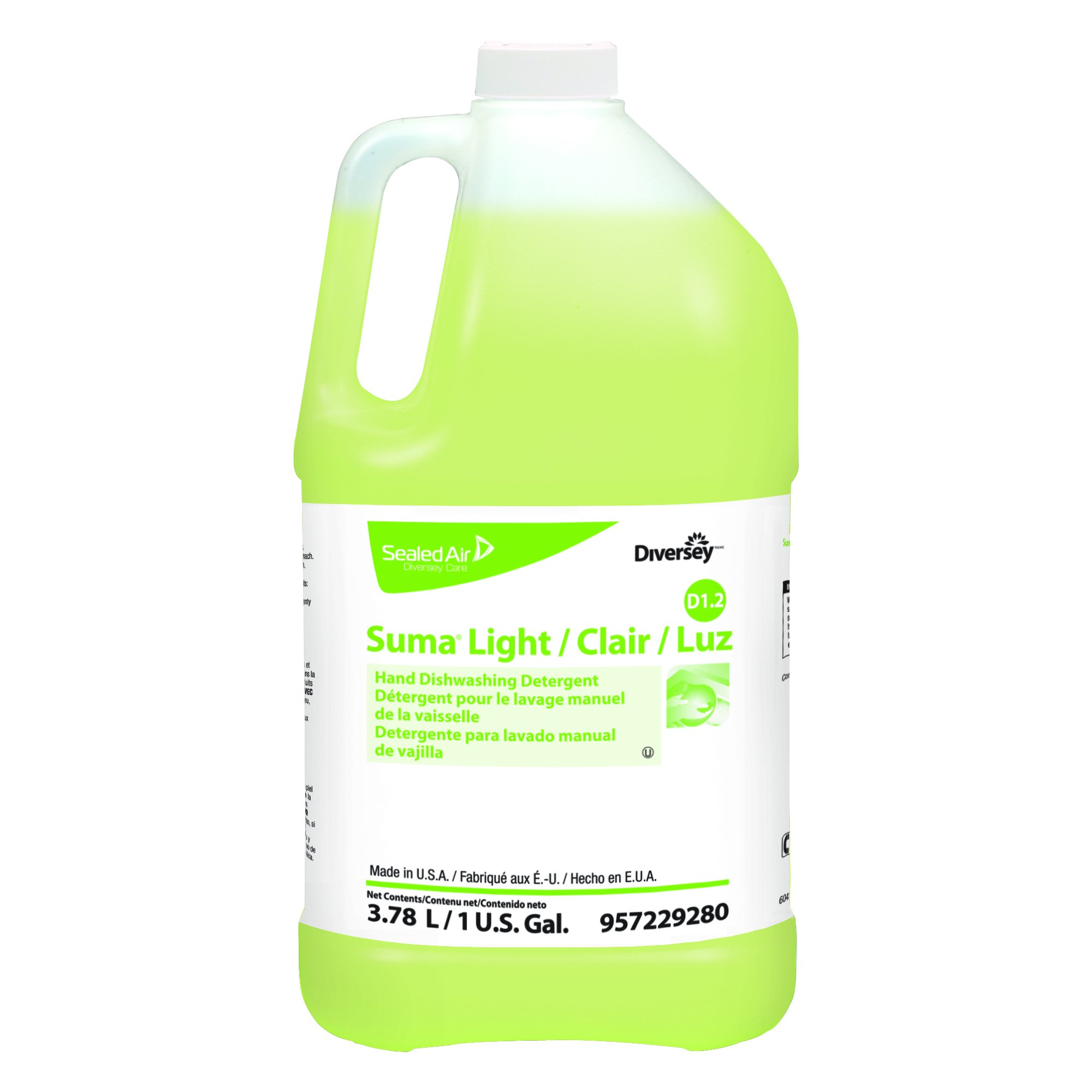 Diversey Suma Light D1.2 All-Purpose Liquid Detergent (1-Gallon, 4-Pack)