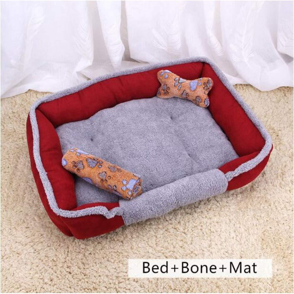B 1 XS 50x40x15cm Fine joy Dog Beds Sofas Pillow Mats Pat Summer Mat for Teddy Dog Cat Kennel House Cotton Coral Fleece Pets Animal Beds Blanket