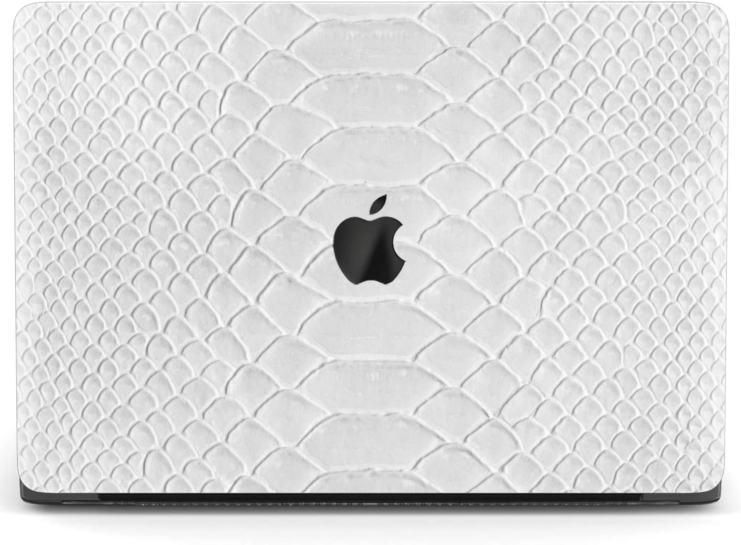 Mertak Hard Case for Apple MacBook Pro 16 Air 13 inch Mac 15 Retina 12 11 2020 2019 2018 2017 Print Leather Design Touch Bar Plastic Snake Skin Clear Protective Laptop Cover Luxury Solid White Basic