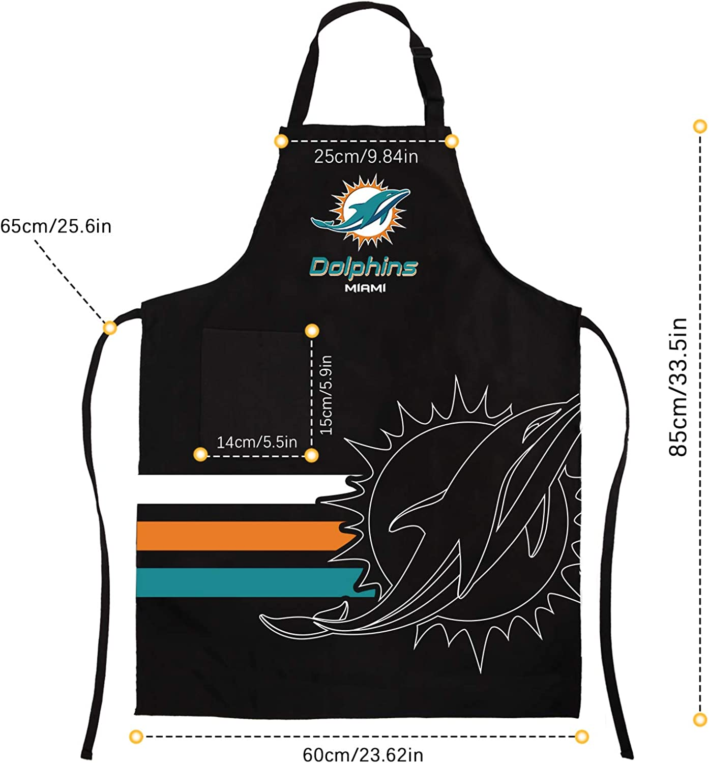 Sports Chef Apron BBQ Aprons Barbeque Aprons Cook Pinafore with Pockets for Fans