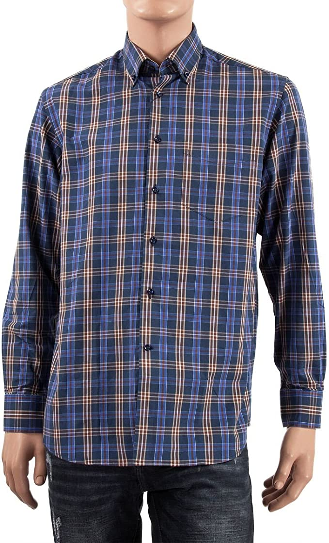 Ted Lapidus - Camisa Casual - Manga Larga - para Hombre Azul 45/46: Amazon.es: Ropa y accesorios