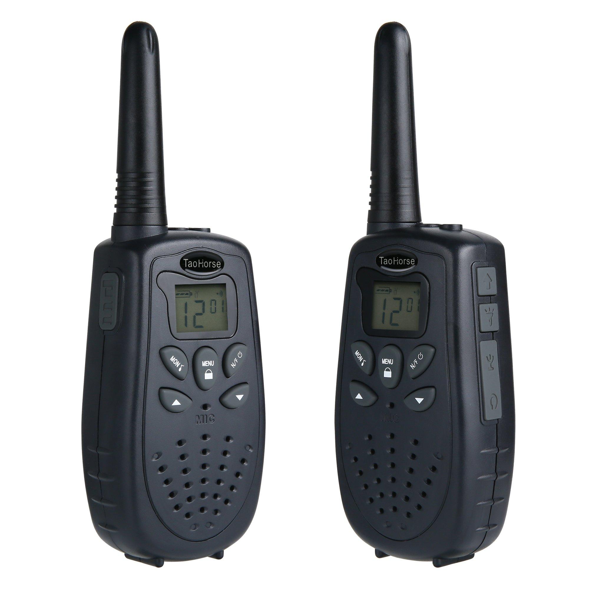TaoHorse Walkie Talkies Long Range VOX UHF 22 Channel Handheld Two Way Radios for Travel Hiking Hunting Outdoor Adventures, 2 Pack