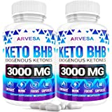 Keto Diet Pills - 5X Dose (2 Pack | 3000mg Keto Bhb) - Exogenous Ketones Bhb Supplement for Women and Men - Boost Energy…