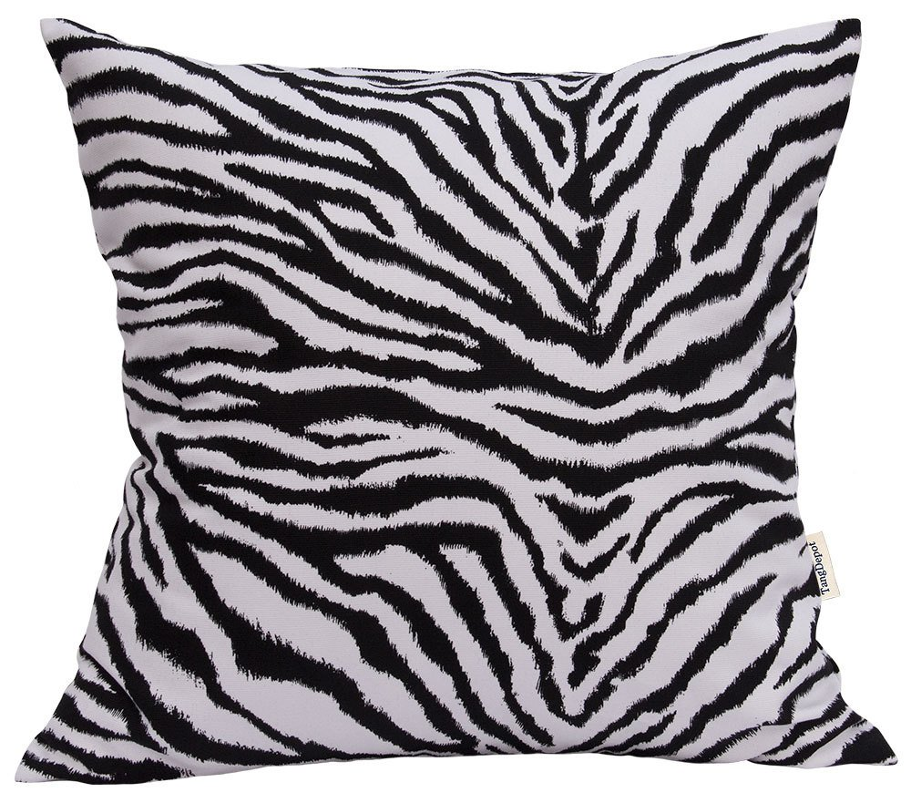 TangDepot Animal Skin Pattern 100% Cotton Canvas Throw Pillow Cover/Euro Sham/Cushion Sham, Many Color & Size options - (26''x26'', Tiger Pattern)