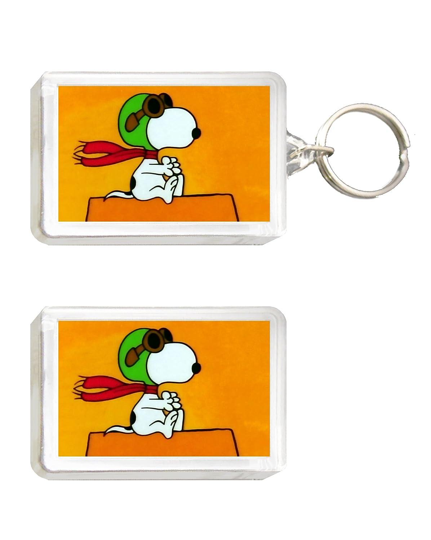 Llavero e imán de Snoopy - aviador: Amazon.es: Juguetes y juegos