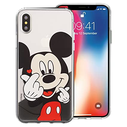 iPhone Xs Max Case Cute Soft Jelly Cover for [ iPhone Xs Max (6.5inch) ] Case - Heart Mickey Mouse