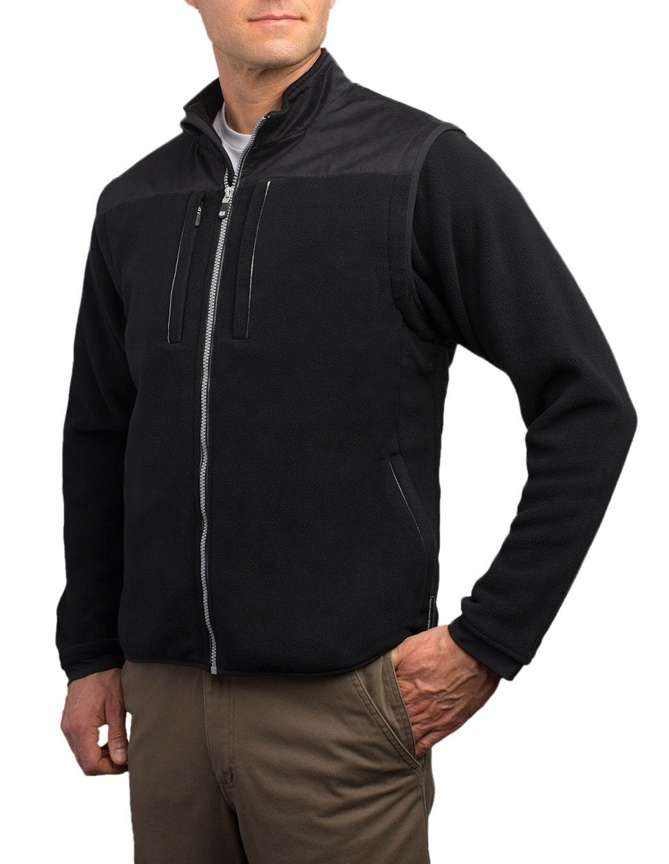 SCOTTeVEST Fleece 8.0 Jacket - 21 Pockets - RFID Blocking, Travel Clothing M