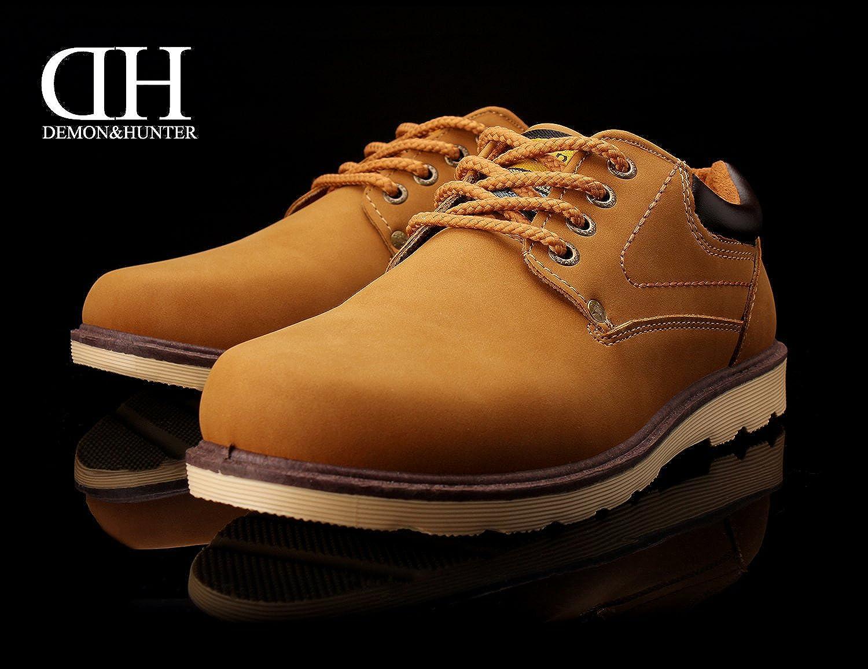 Demon&Hunter Hombre Clásico Moda Naranja Oxfords Zapatos S401A06O(EU 40/Etiqueta 40) Ynukdd0