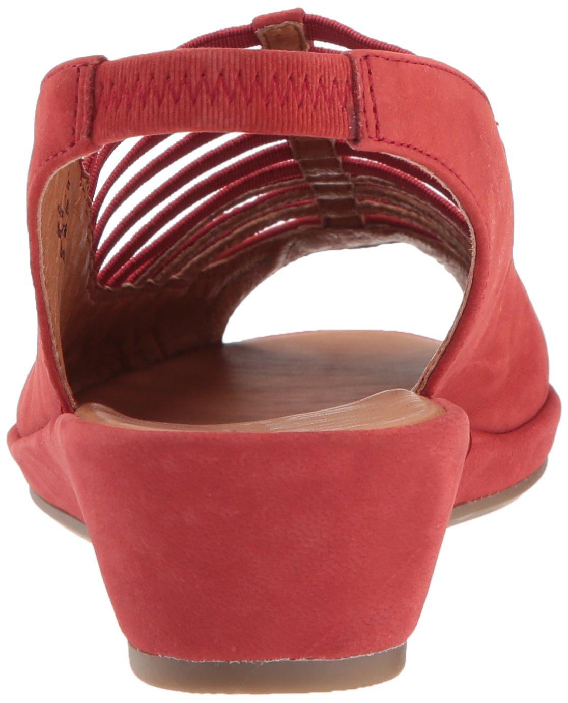 Gentle Souls Women's Lee Slingback Low Elastic Wedge Sandal B01BHJXYYG 8 B(M) US|Red