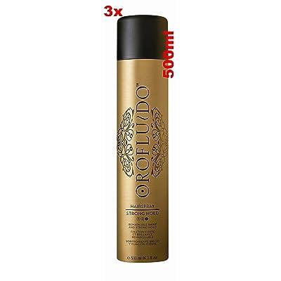 3veces orof luido Hair Spray 3x 500ml = 1500ML