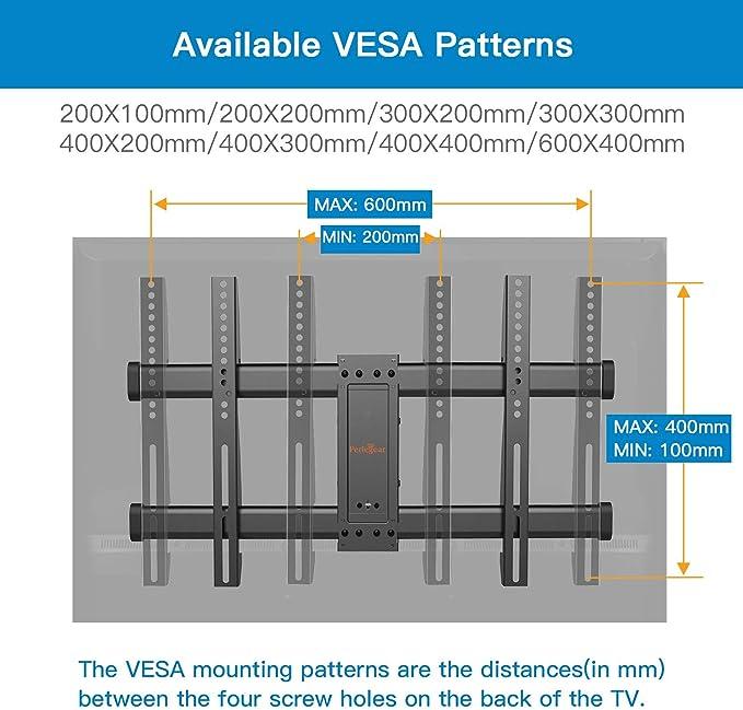 Soporte TV de Pared Articulado Inclinable y Giratorio para Pantallas de 37-75 Pulgadas, hasta 60 kg, MAX VESA 600x400mm, Cable HDMI Y Nivel de Burbuja Incluidos: Amazon.es: Electrónica