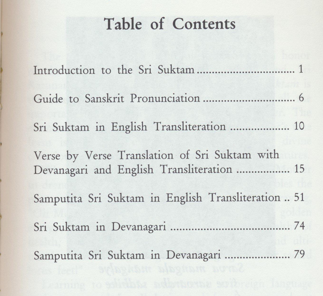 Sri suktam with samputia sri suktam (2006 English and Devanagari