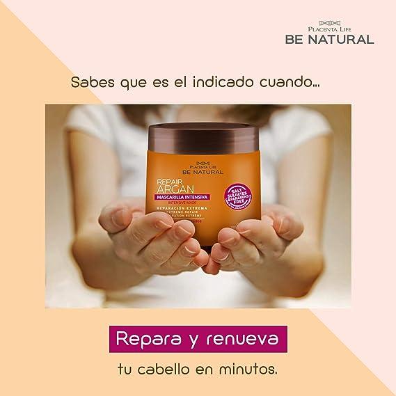 Be Natural, Mascarilla Intensiva Repair Argan, 350 gr.