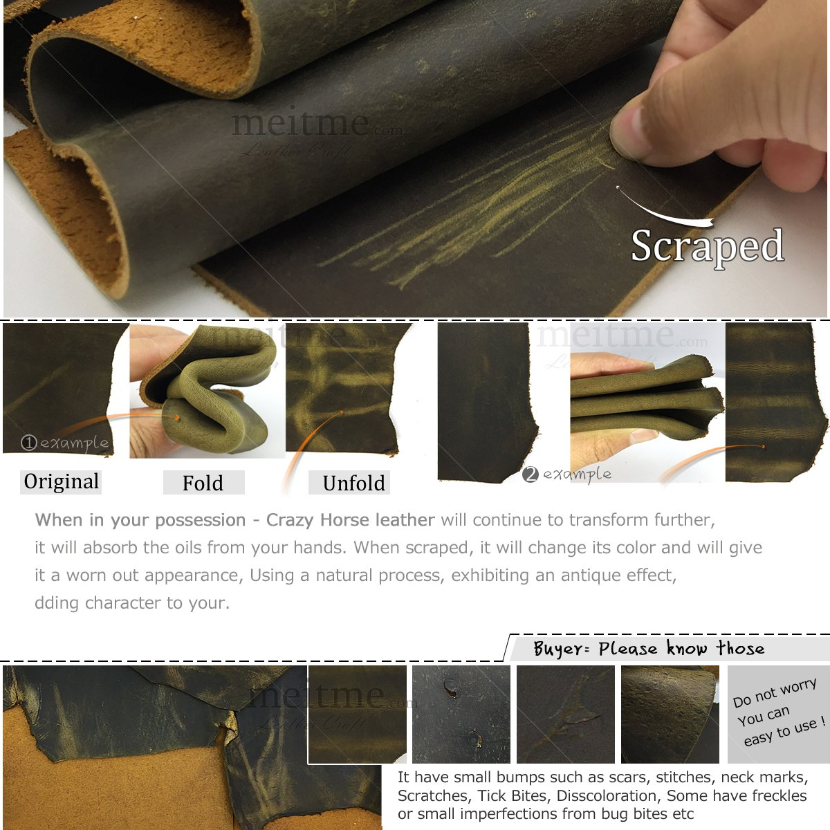 Brown Thick Leather Hide Pieces Leather Scraps Skin Vintage Genuine Cowhide Side Crafts Sheath for DIY Crafting