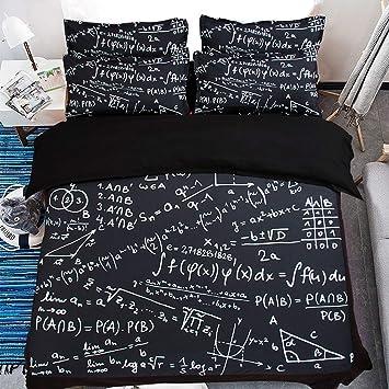 Zhouing 3d Druck Mathe Bettbezug Set Schule Themengleichungen
