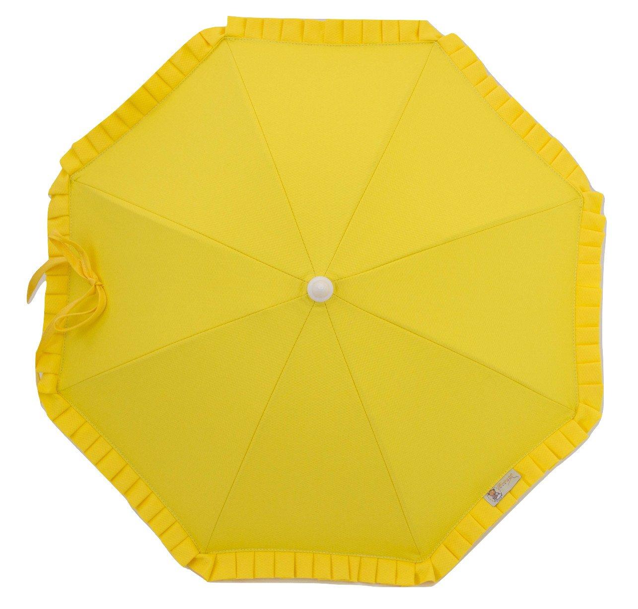 Sombrilla para carrito de bebé con protección solar Anti-UV CERTIFICADA + Flexo Universal. Varios colores disponibles. Fabricada en España (Beige) Borda y más