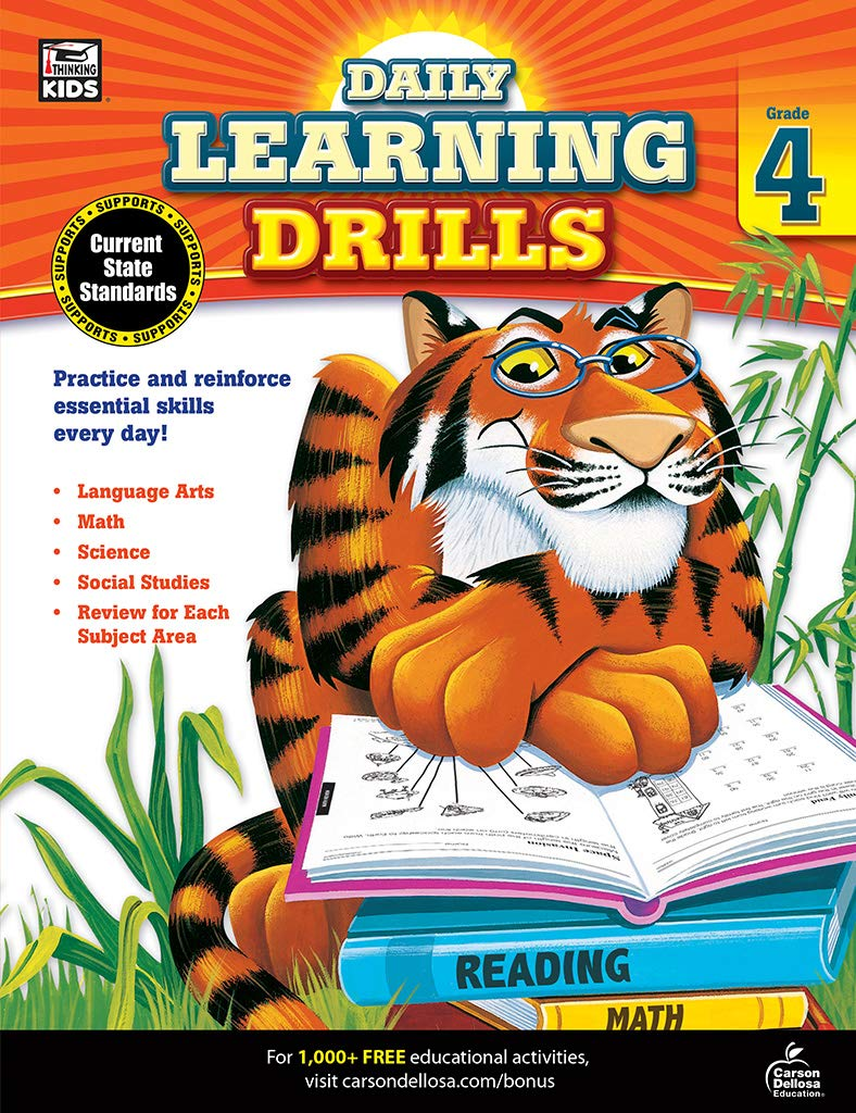 Daily Learning Drills, Grade 4: Brighter Child: 0044222233433